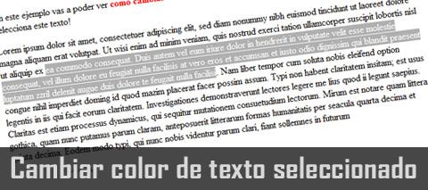 cambiar color de texto seleccionado
