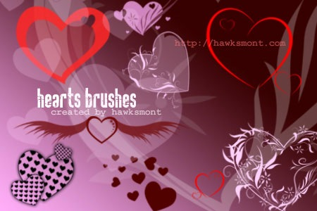 Wallpapers De Corazones. corazones pinceles photoshop