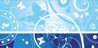 vectores florales abstractos
