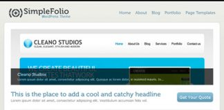 SimpleFolio theme gratis wordpress