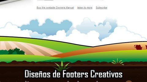 footers creativos