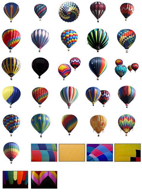 globos aerostaticos en psd