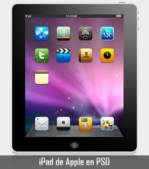 ipad apple psd