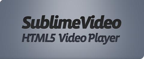 SublimeVideo - Reproductor de Vídeo en HTML5