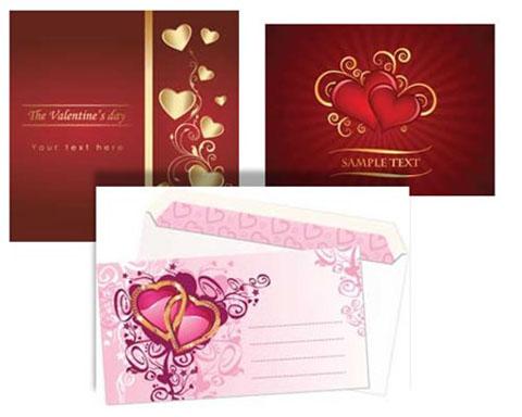tarjetas san valentin vector