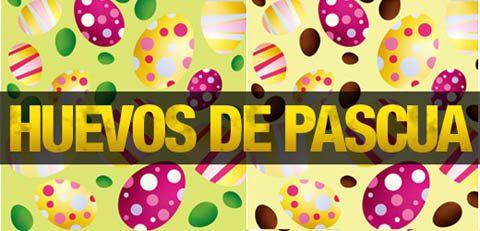 Huevos de pascuas vectorizados