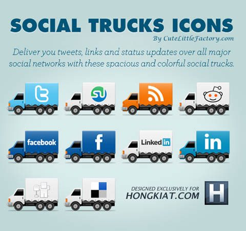 social truck icons