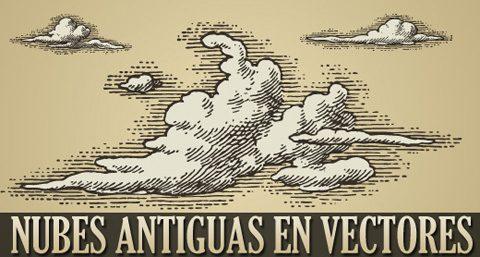 nubes antiguas vectorizadas