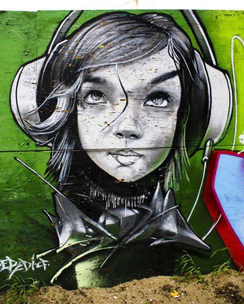 Excelentes Graffitis de caras 3D