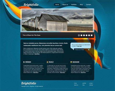 Brightfolio, plantilla XHTML/CSS gratuita