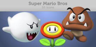 iconos de mario bros en 3d