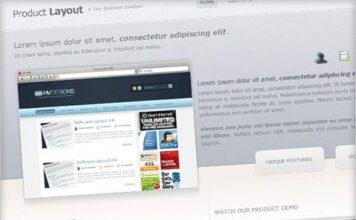 psd template web negocios