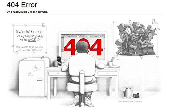 ejemplos creativos de error 404