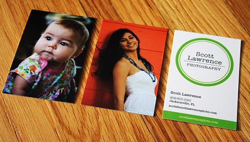 tarjetas personales con fotos de personas