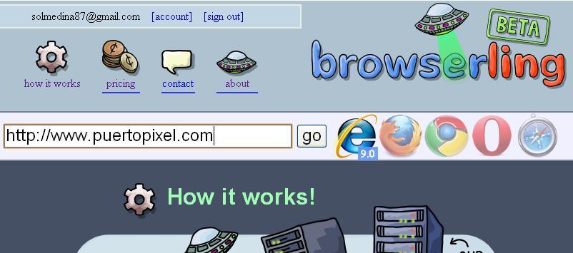 Browseling proba tu web en distintos navegadores