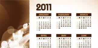 calendario 2011 marron