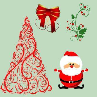 Vectores de objetos navide os for Cosas decorativas para navidad