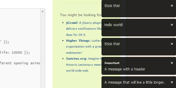 Plugins jQuery para crear tooltips
