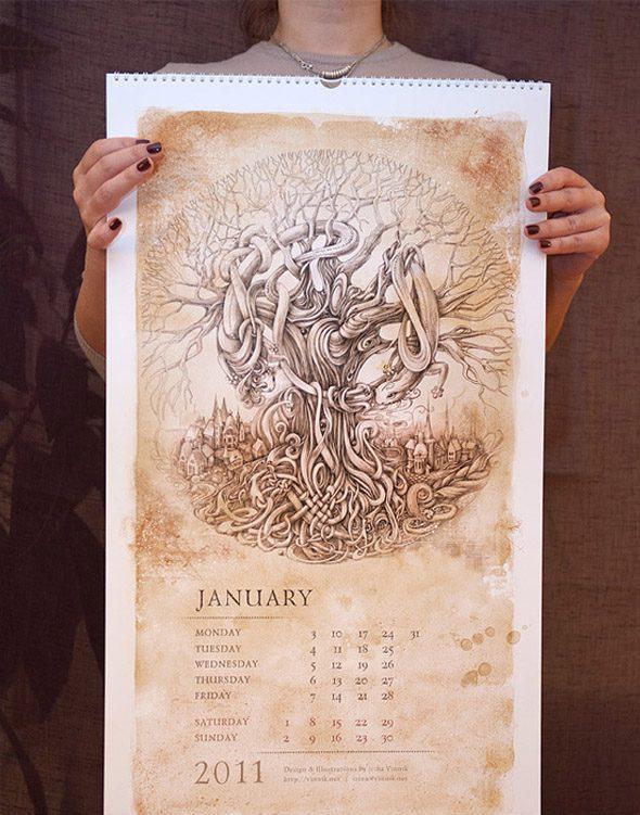 calendario 2011 creativo
