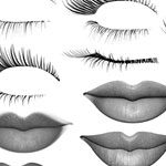 100 brushes de gran calidad -  Lips and lashes brushes