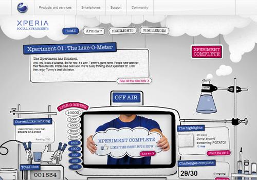 40 diseños web muy creativos - sony ericsson