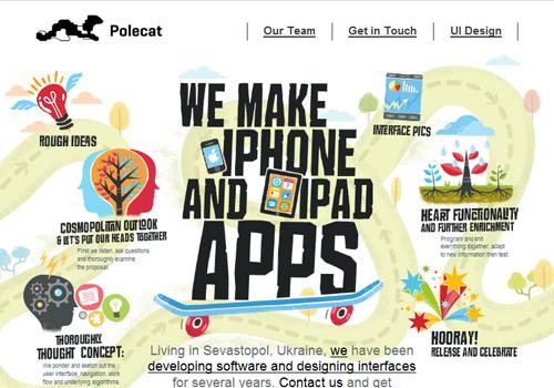 40 diseños web muy creativos - ipole cat