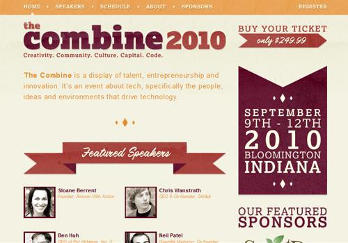 40 diseños web muy creativos - the combine