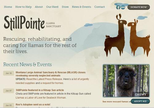 40 diseños web muy creativos - still pointe sanctuary