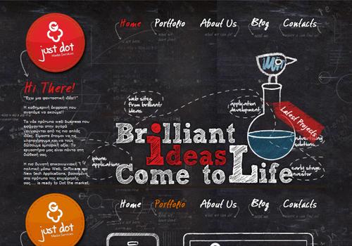 40 diseños web muy creativos - just dot