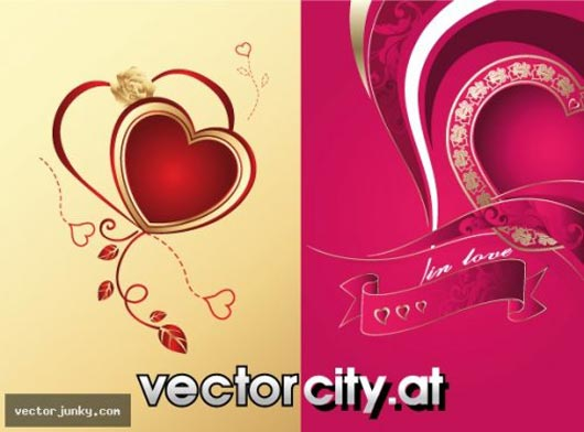 iconos y vectores para san valentin - 2-Hearts-With-Curls