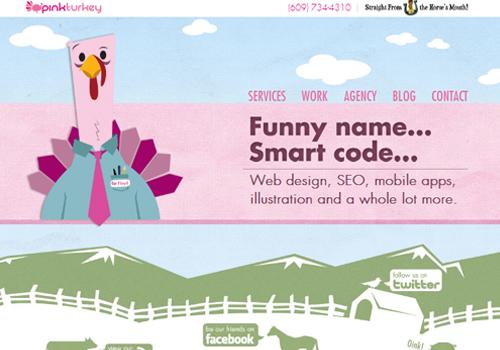 40 diseños web muy creativos - pink turkey