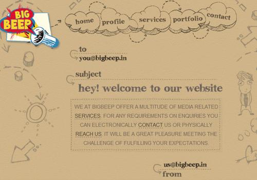 40 diseños web muy creativos - big beep