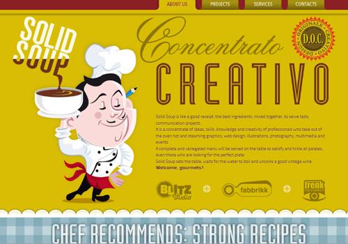 40 diseños web muy creativos - solid soup