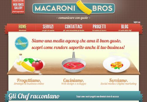 40 diseños web muy creativos - macaroni bros