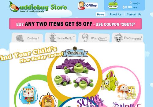 40 diseños web muy creativos - cuddle bugstore