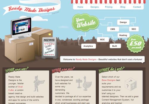 40 diseños web muy creativos - ready made designs