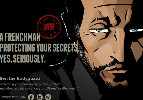 40 diseños web muy creativos - ben the bodyguard