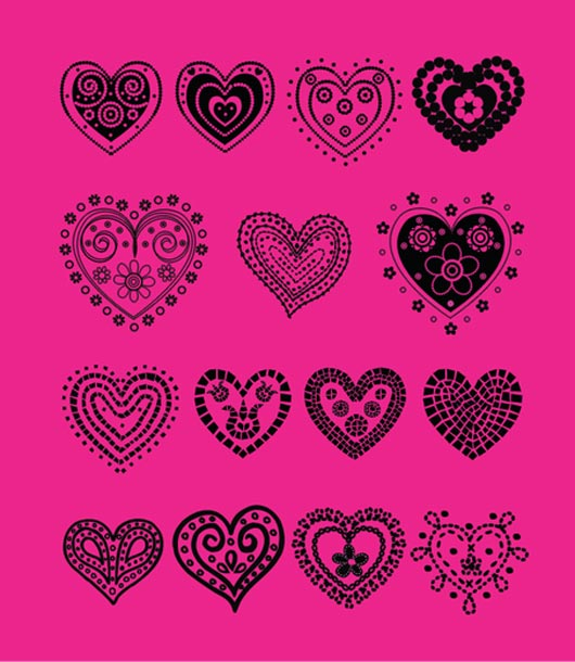 iconos y vectores para san valentin - Hand-Drawn-Vector-Hearts-(.AI-Source-File)