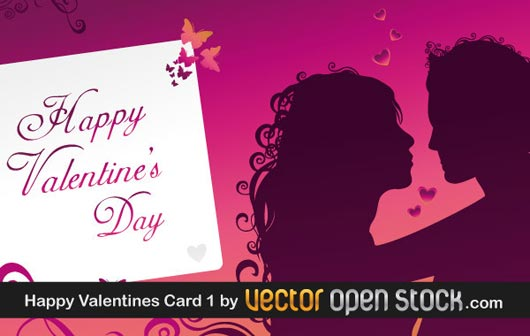 iconos y vectores para san valentin - Happy-Valentine's-Day-Greeting-Card