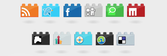 Social LEGO icon set