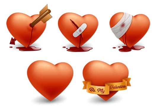 iconos y vectores para san valentín - Vector-Heart-Image-With-Wings-(.AI-Source-File)