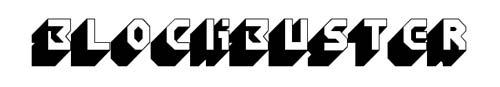 100 tipografias estilo 3d - blockbuster