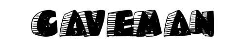 100 tipografias estilo 3d - caveman