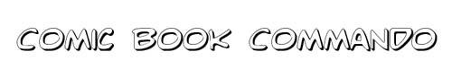 100 tipografias estilo 3d - comic-book-commando