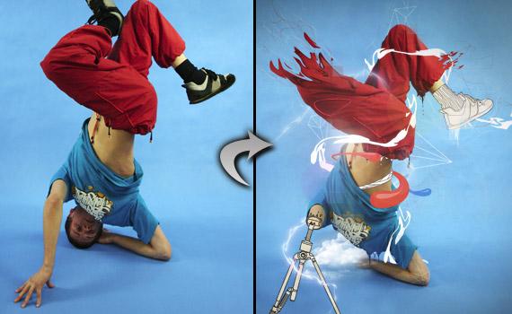 30 tutoriales photoshop -  - dance-portrait-photo-effect-photoshop-tutorial