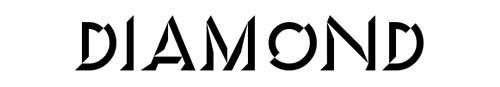 100 tipografias estilo 3d - diamond