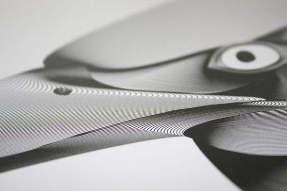 dibujos 3d hechos con lineas