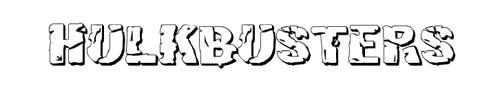 100 tipografias estilo 3d - hulkbusters