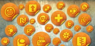 iconos-sociales-stikers-naranja