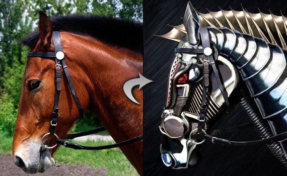 30 tutoriales photoshop -  - robot-horse-photo-effect-montage-photoshop-tutorial